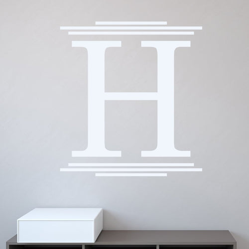 Majestic Personalized Monogram Wall Decal