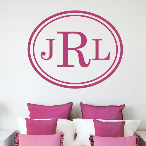 Elegance Personalized Monogram Wall Decal
