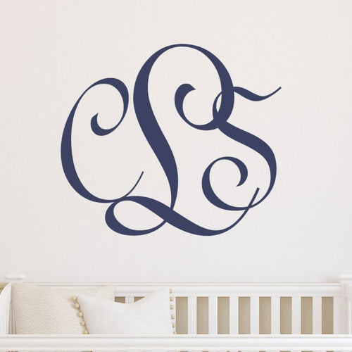 Entwined Monogram Personalized Wall Decal