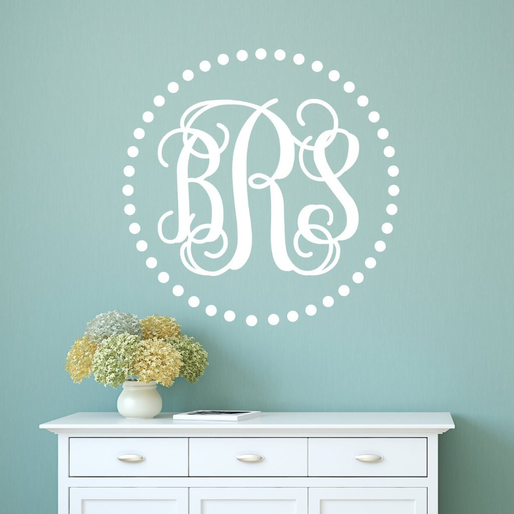 ... Wall Decals | Personalized Alphabet Garden Decals. Mono054_22
