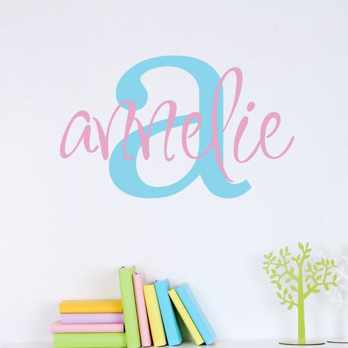 Annelie's Monogram Personalized Wall Decal