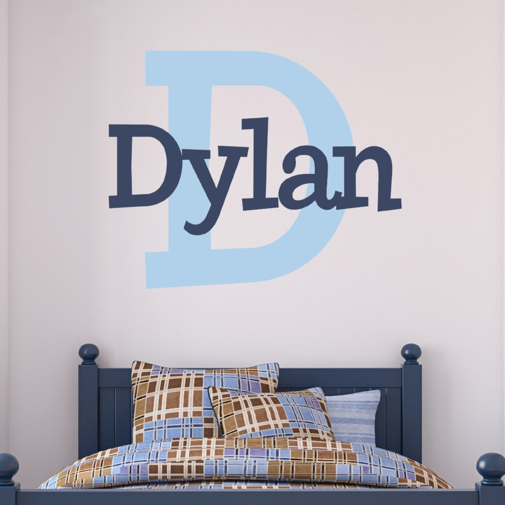 Dylan's Preppy Personalized Wall Decal