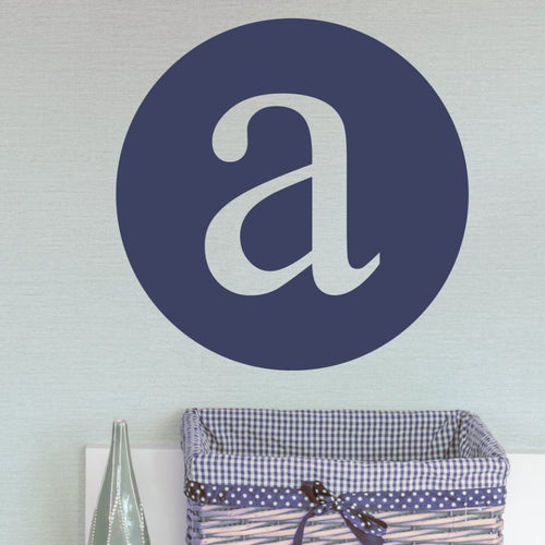 Typewritten Monogram Personalized Wall Decal