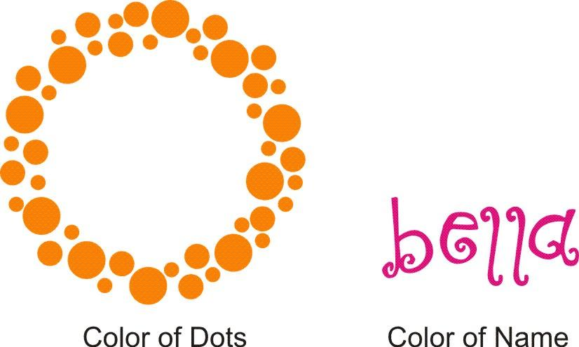 Bella's Dots Personalized Wall Decal