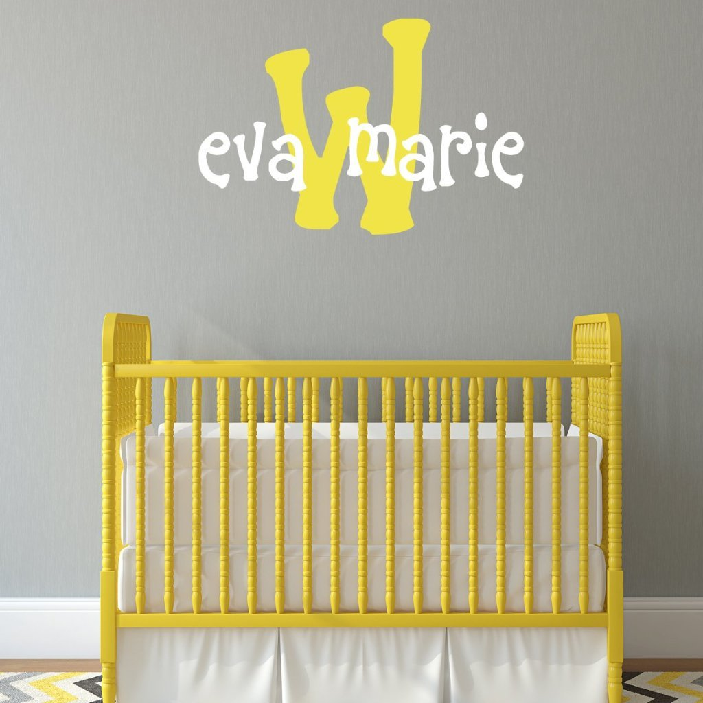 Eva's Monogram Personalized Wall Decal
