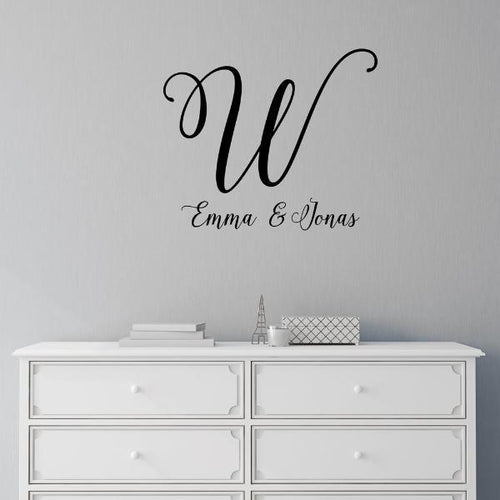 Lovely Couples Monogram Personalized Wall Decal