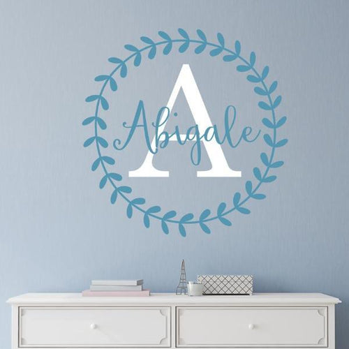 Abigail Leaf Vine Personalized Wall Decal