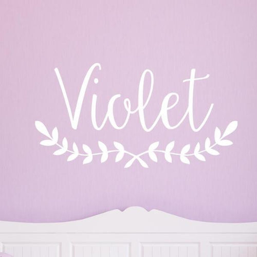 Violet Personalized Wall Decal
