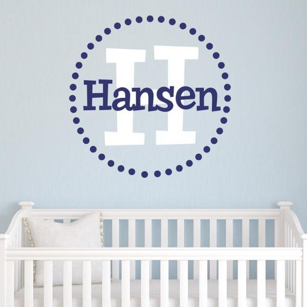 Hansen Monogram Personalized Wall Decal