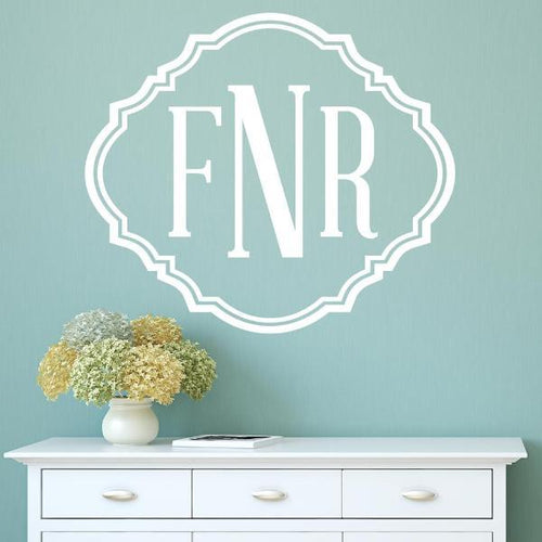 Vintage Monogram Personalized Wall Decal