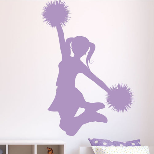 Cheerleader Cheers Kids Wall Decal
