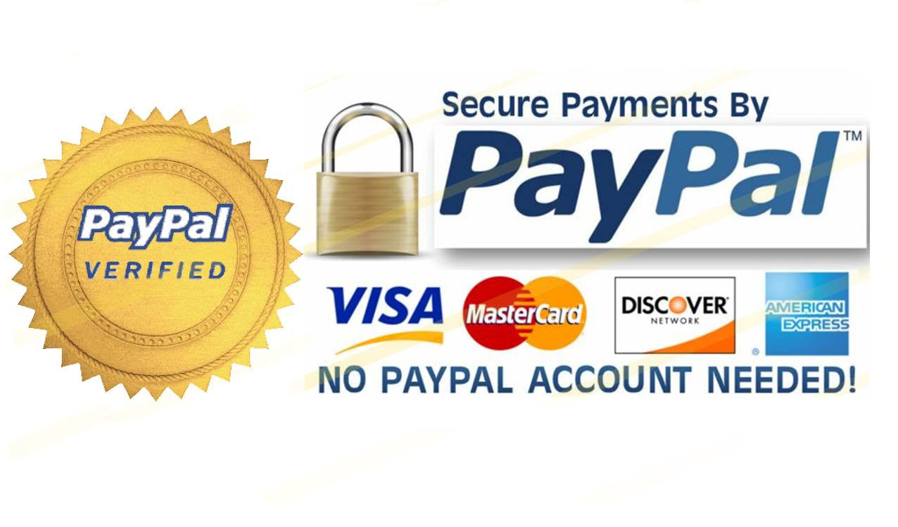 Paypal & Credit Card Logos - Acceptable forms of Payment