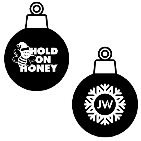 Hold On Honey Glass Ornament