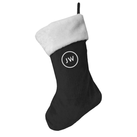 Black Christmas Stocking