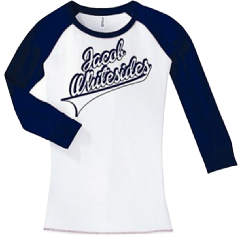 White and Navy Baseball Raglan