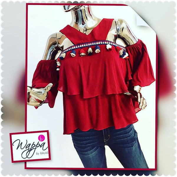 Top Casual Rojo Vino