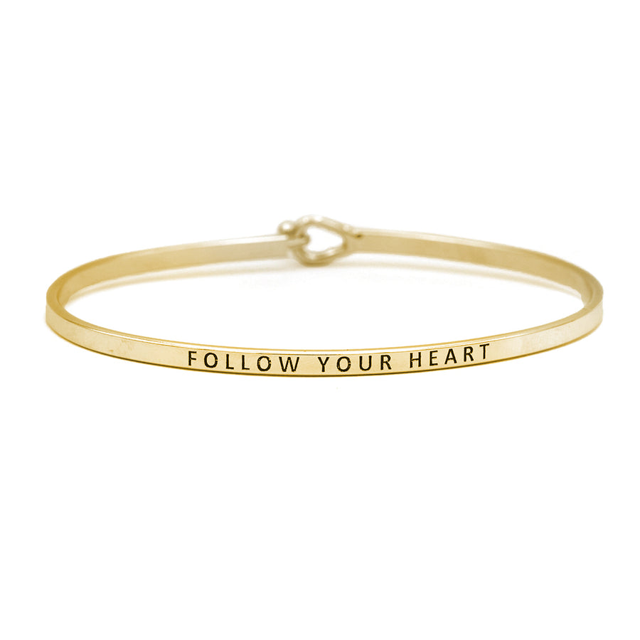 thin gold friendship bangle