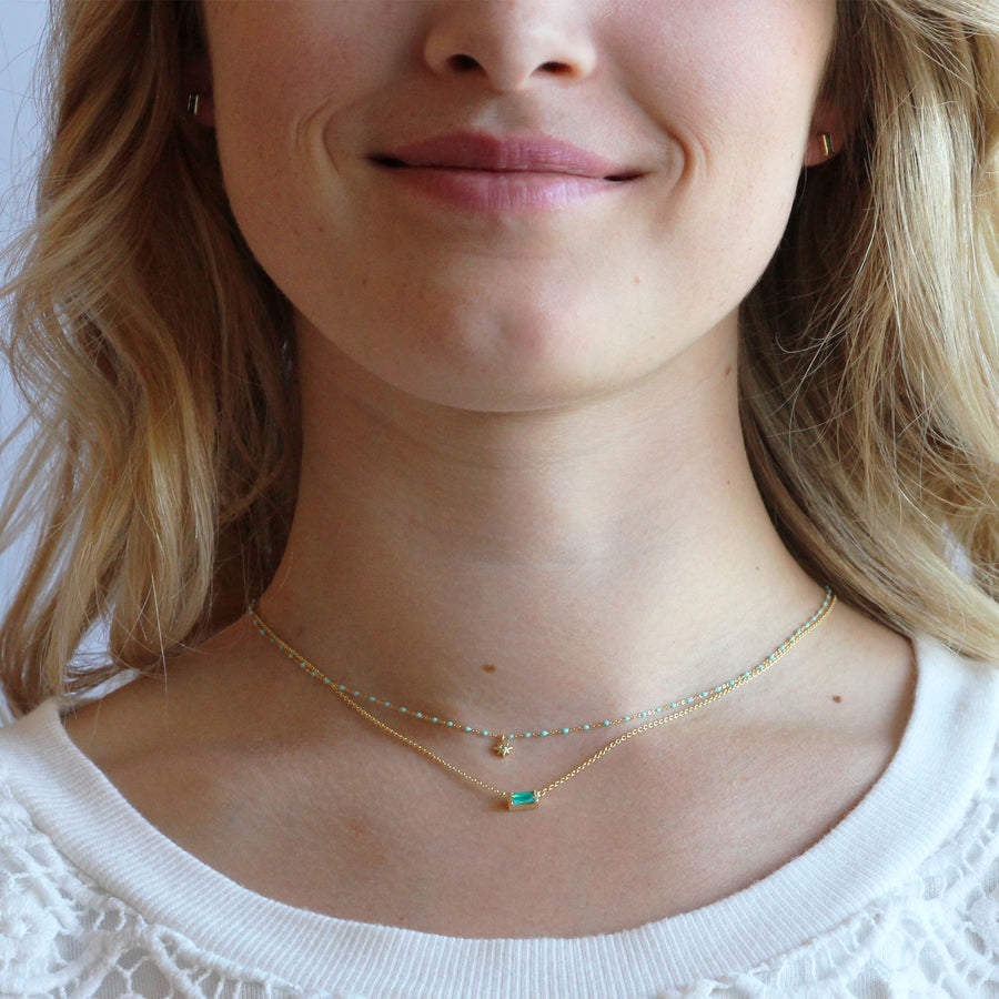 aquamarine baguette necklace