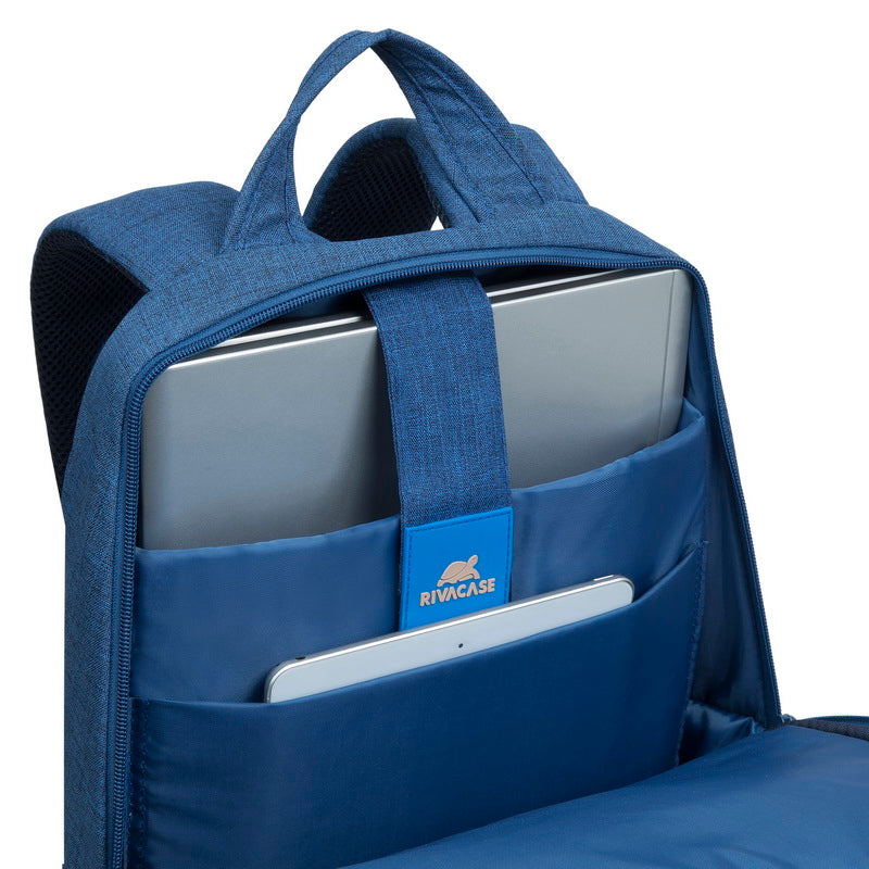RivaCase 7560 blue Laptop Canvas Backpack 15.6