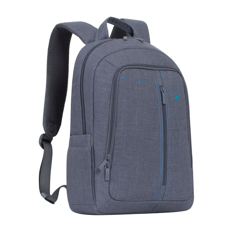 RivaCase 7560 Grey Laptop Canvas Backpack 15.6
