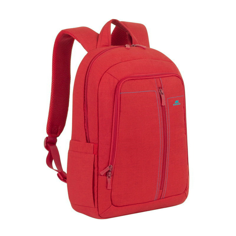 RivaCase 7560 Red Laptop Canvas Backpack 15.6