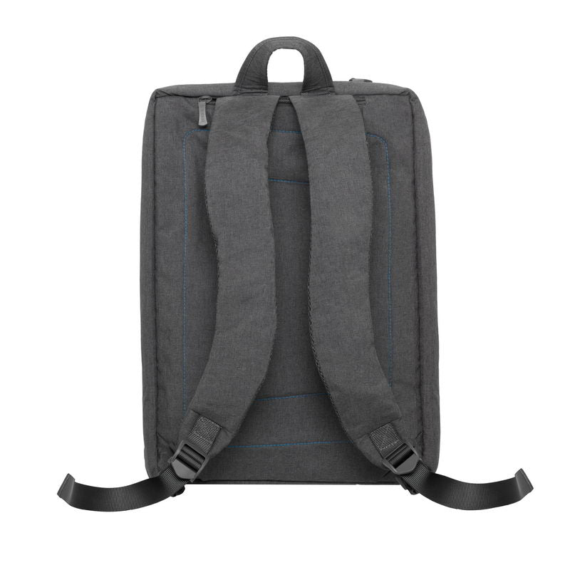 RivaCase 7590 grey convertible Laptop bag backpack 16