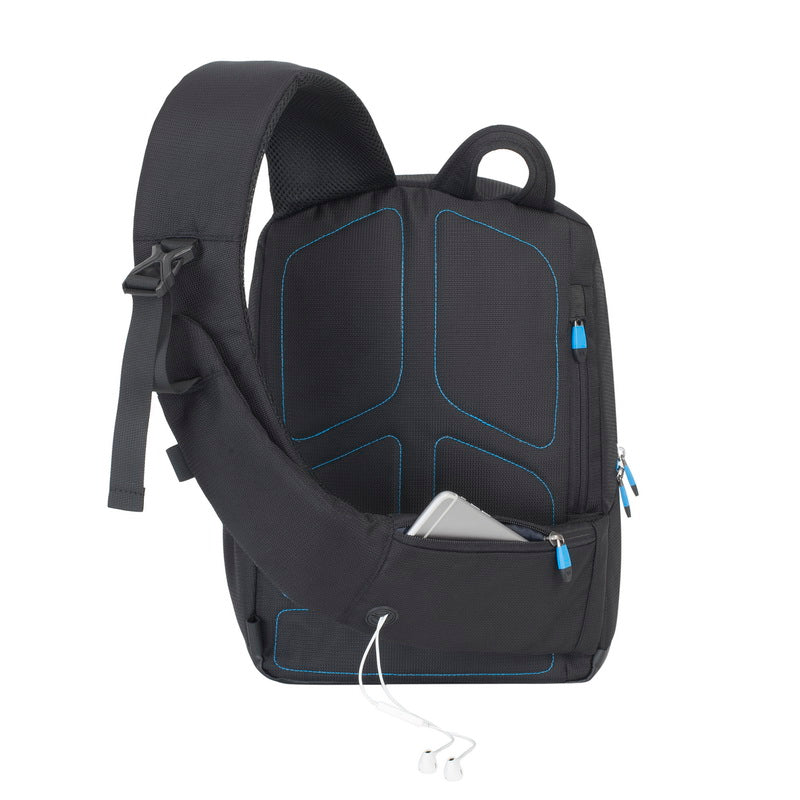 RivaCase 7870 black Drone Slingbag medium for 13.3 laptop