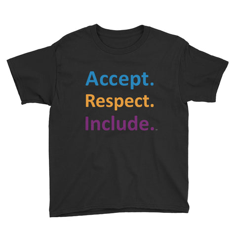 Accept. Respect. Include Youth  T-Shirt