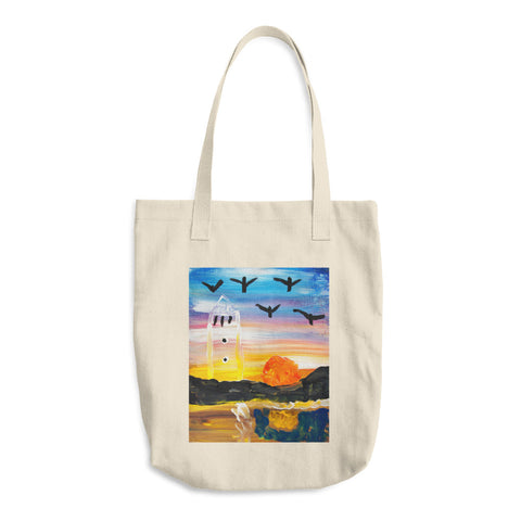 Cotton Tote Bag | Artwork by Rosinni