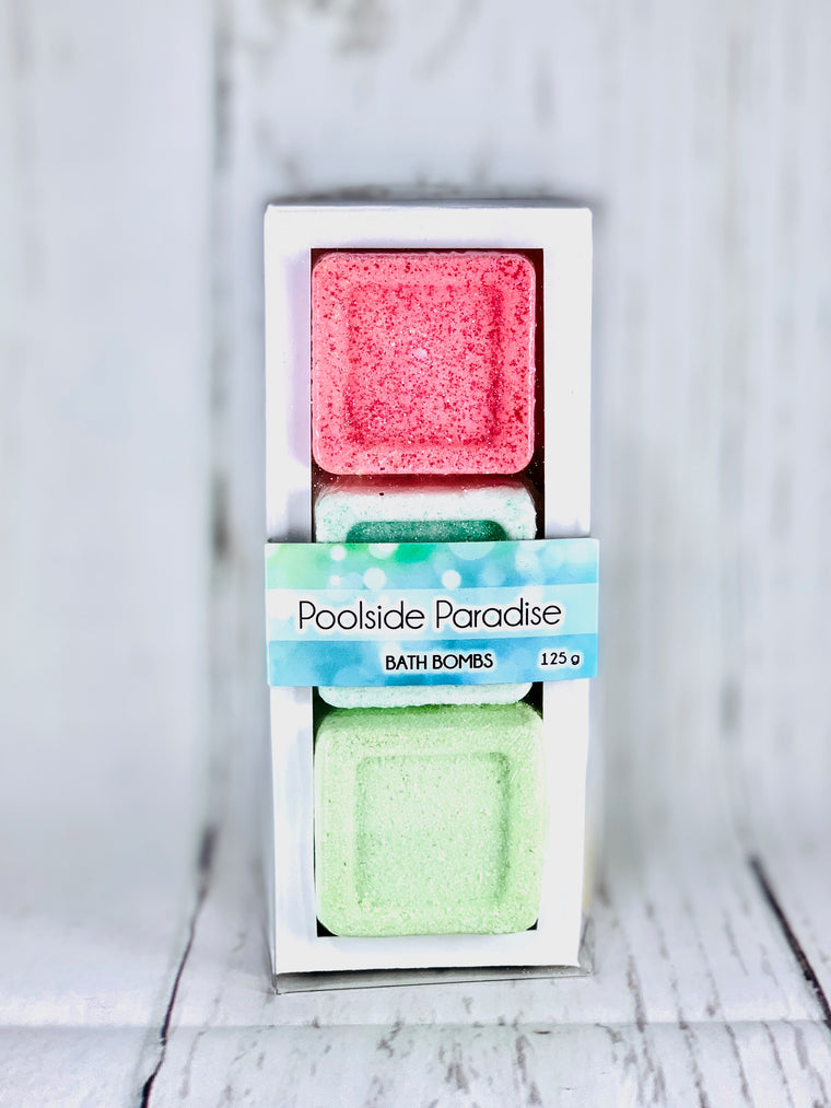 Poolside Paradise - Bath Bomb Gift Set