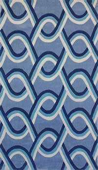 Blue Mix Pattern Rug