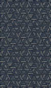 Thunder Blue Pattern Rug