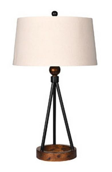 Black & Copper Tripod Lamp