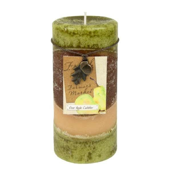 Moss Green Pillar Candle 3x6