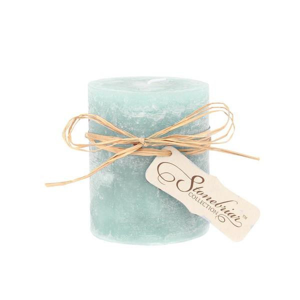 Soft Blue Pillar Candle 3x4