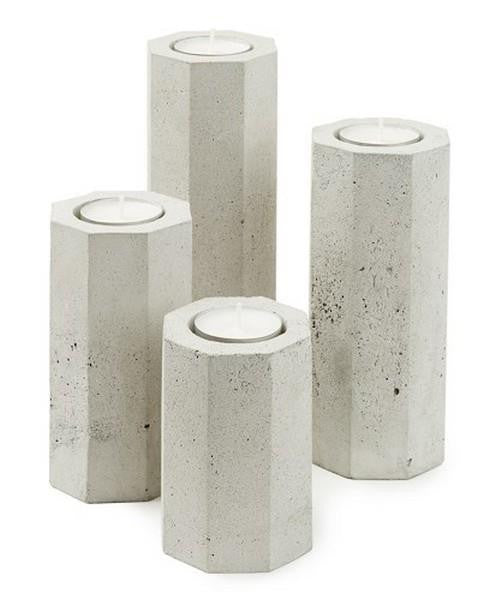 Cement Tea Light Holder