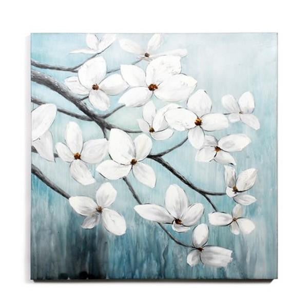 White Flowers in the Wind Painting