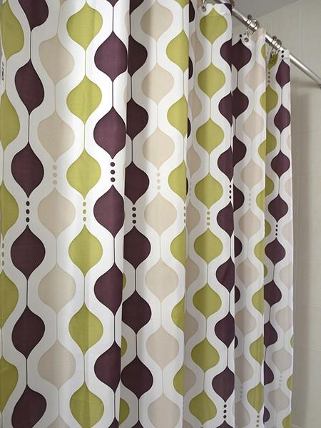 Moroccan Wave Shower Curtain