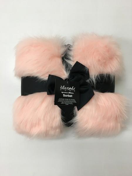 Blush Pink Faux Fur Throw