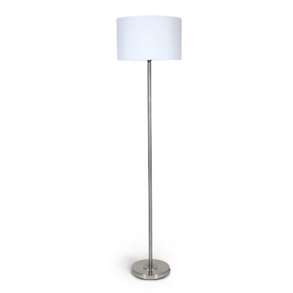 Nickle metal floor lamp