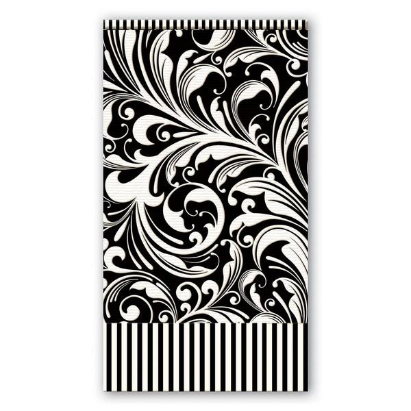 Black Florentine Hostess Napkin