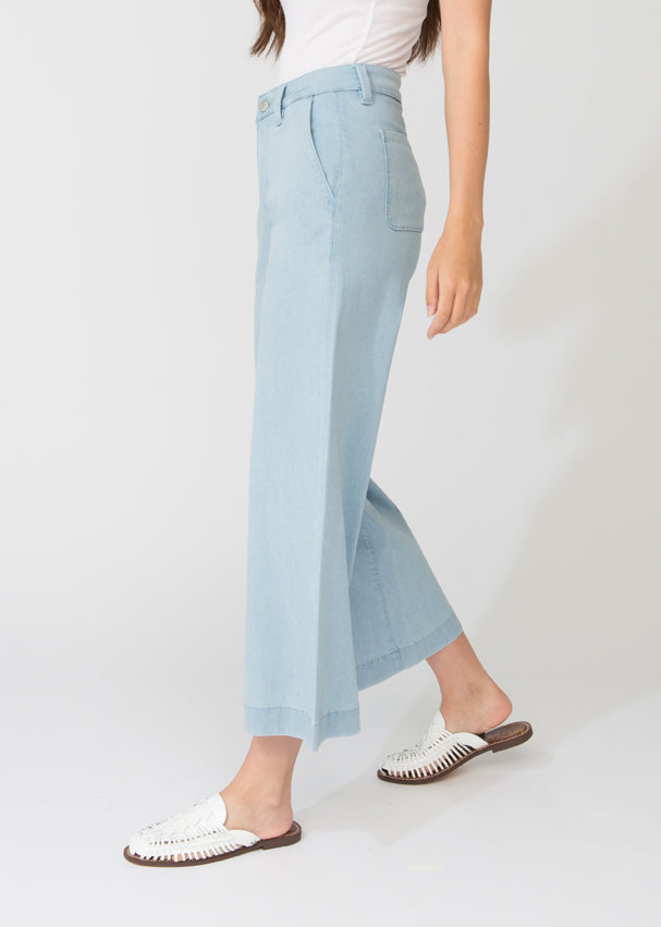 Featherlight Denim Wide Leg Crop