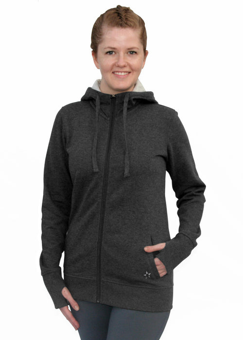 "Fleece Zip Hoodie - ""Glory Active Signature"""