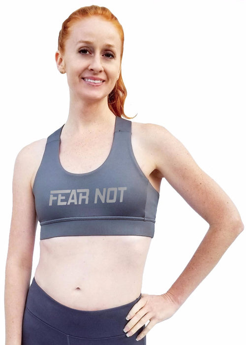 "Crossback Sports Bra - ""Fear Not"""