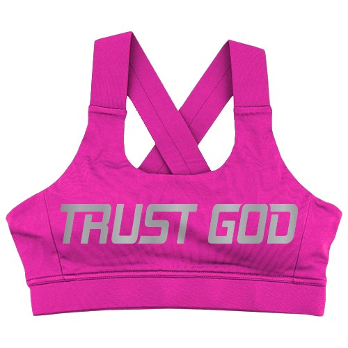 "Crossback Sports Bra - ""Trust God"""