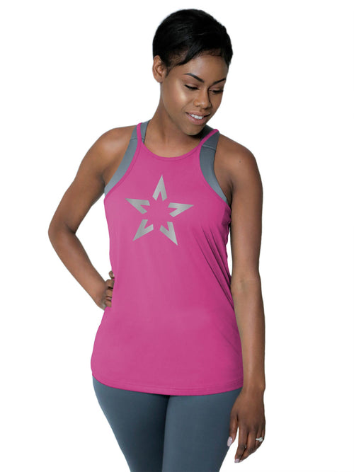 "High Neck Performance Tank - ""Super Star"""