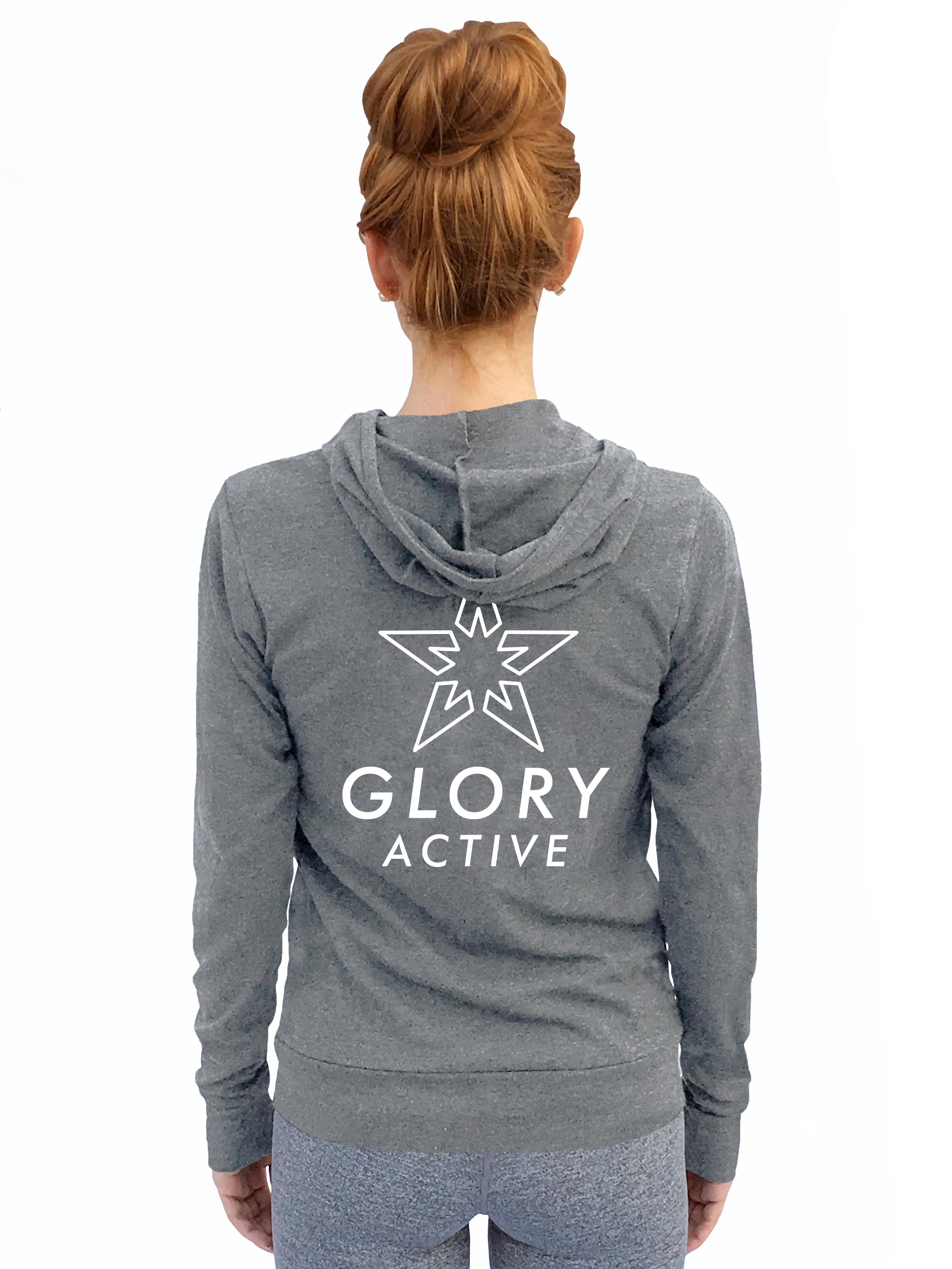 "Zip-Up Lightweight Hoodie - ""Glory Active Signature"""