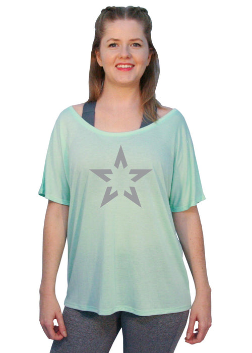 "Off-The-Shoulder Tee - ""Super Star"""