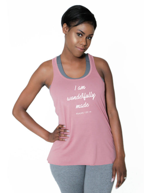 "Racerback Flowy Tank - ""Wonderfully Made"""