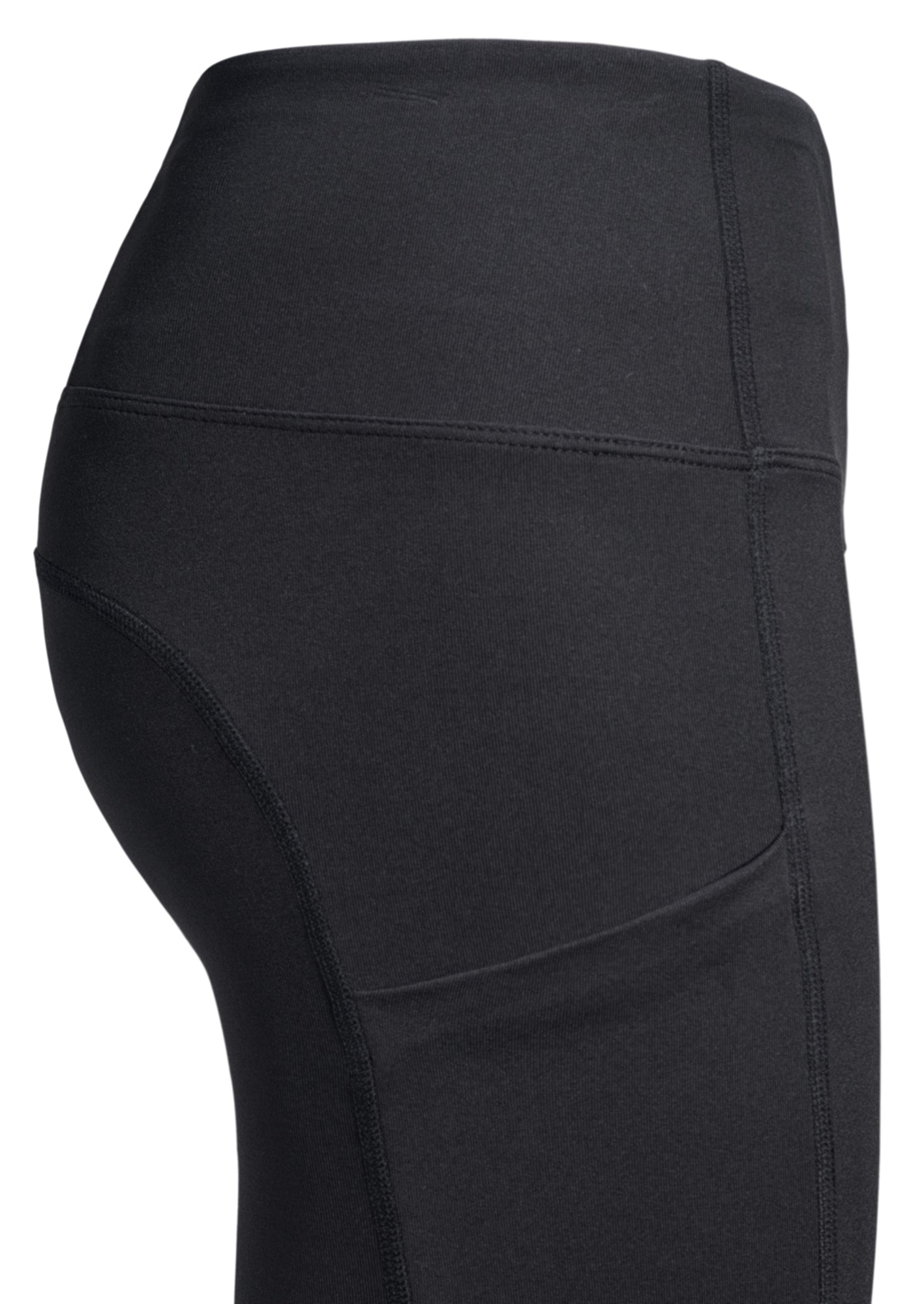 side pocket black legging woman christian activewear